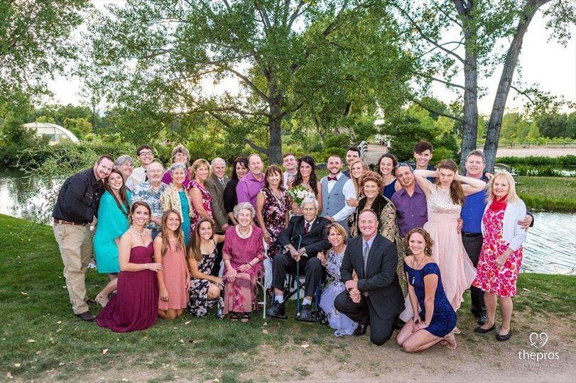 Big family wedding