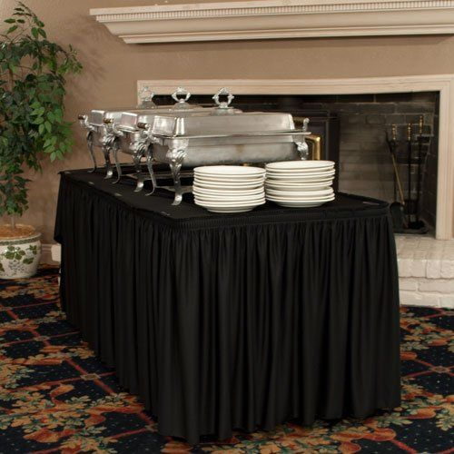 Shop wrinkle free table skirting. Our exclusive material is stain resistant and wrinkle free every...