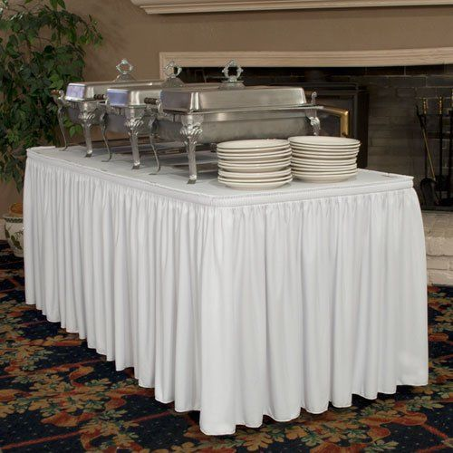 Buy no-iron table skirting online. Our exclusive material makes the difference, wrinkle free right...