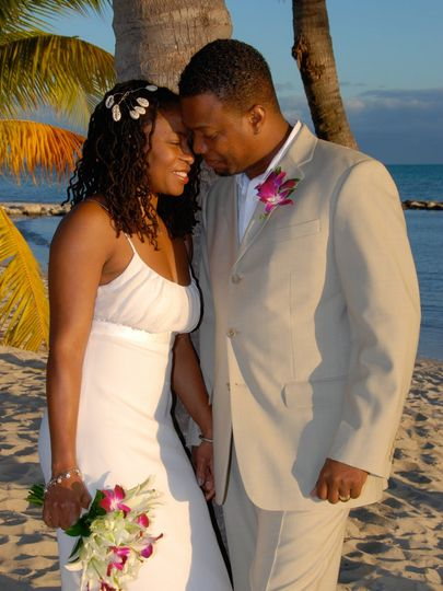 Wedding Under a Palm Tree