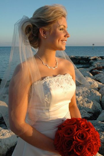 A glowing Key West bride.