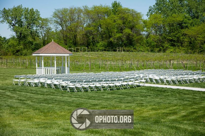 Outdoor wedding O Photo