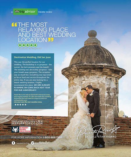Martha Stewart Weddings Magazine AD from Puerto Rico Tourism Company
