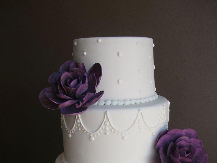 Tmx 1433174616876 Dyke Purple Gardenias 4.27.13 Ann Arbor, MI wedding cake
