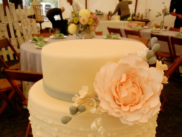 Tmx 1433175796733 Gumpaste Flowers  Ruffles Vernie Ann Arbor, MI wedding cake