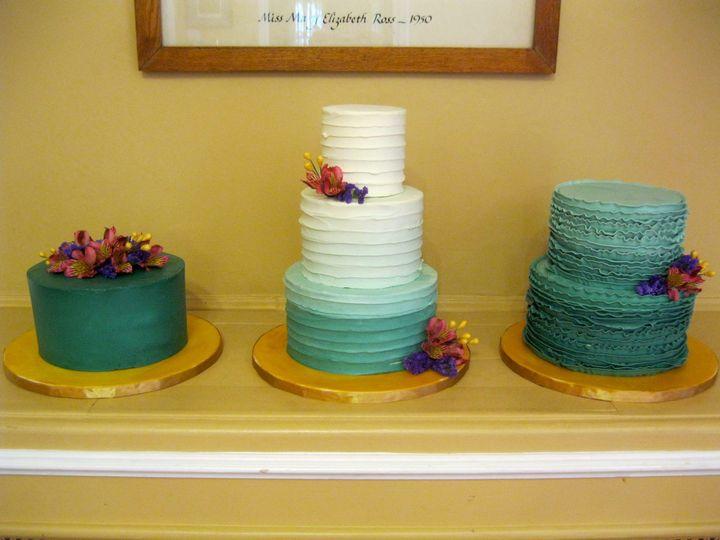 Tmx 1433175931342 Table Cakes Eucalyptus Ombre Ann Arbor, MI wedding cake