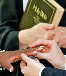 The Rings are exchanged & Promises made