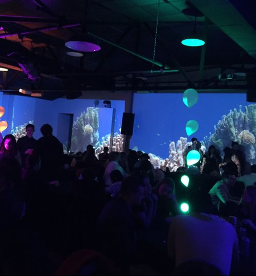 Image projection on walls