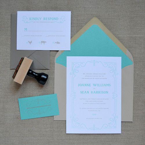 Tmx 1442863470417 Filigreeframeletterpresssuite Charlotte, NC wedding invitation