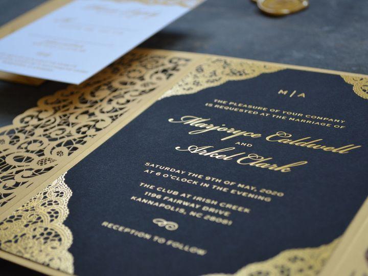 Tmx Gold Foil Invitations 51 779072 158621174323227 Charlotte, NC wedding invitation