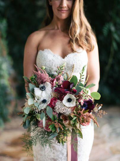 Colorful bridal bouquet.