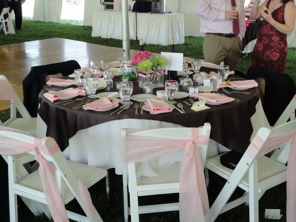brown and  pink summer tent wedding
