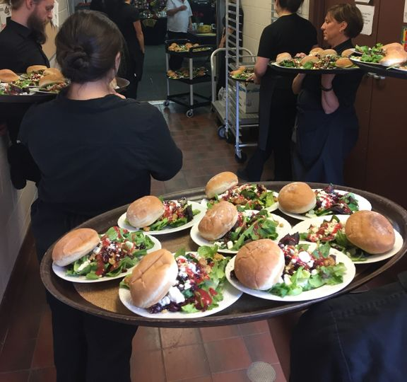 Plated salad pellegrino's