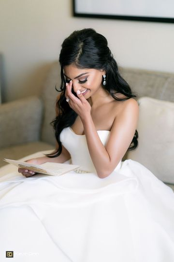 Tearful bride