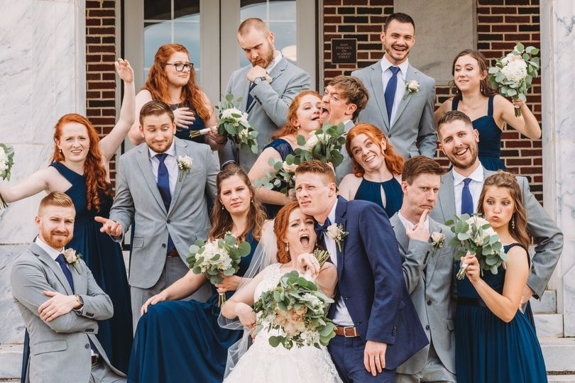 Funny bridal party