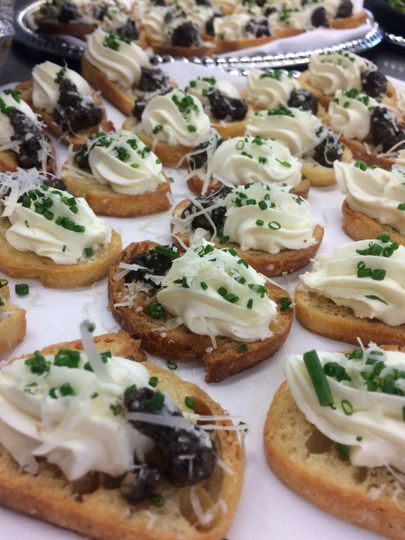 goat cheese and olive tapanade