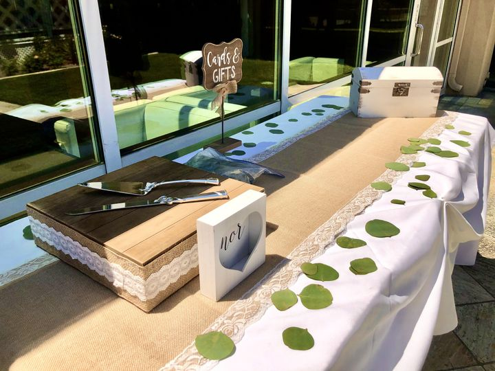 Outdoor Reception - Cake Table