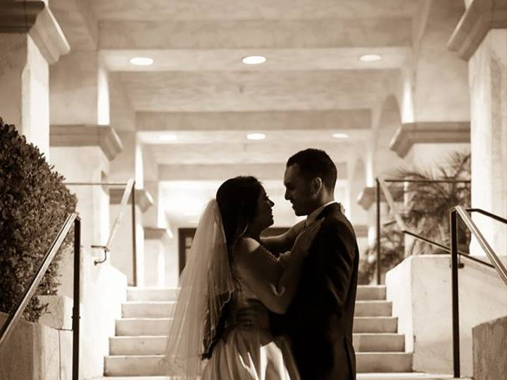 Tmx Black White On Front Stairs 51 27172 V4 Porter Ranch, CA wedding venue
