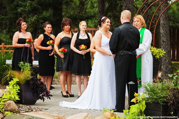 Ourdoor Ceremony at Pine Peaks Event Center a member of Wedding Wire, The Knot, Brainerd Wedding...