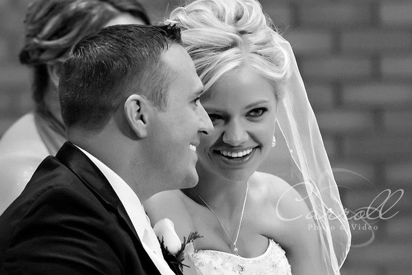 romantic wedding moment