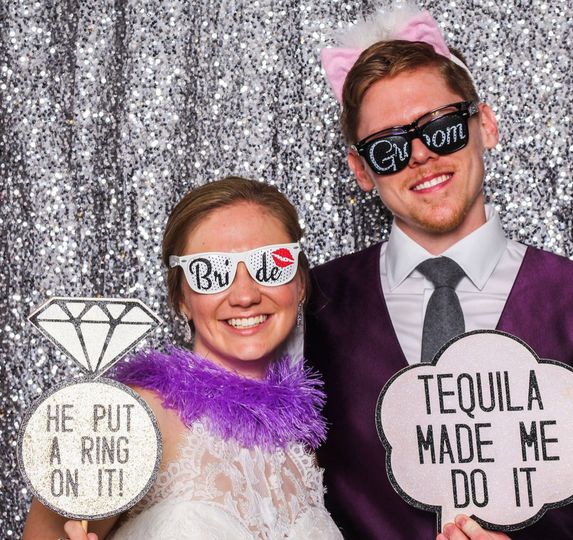 Bride & groom photo booth