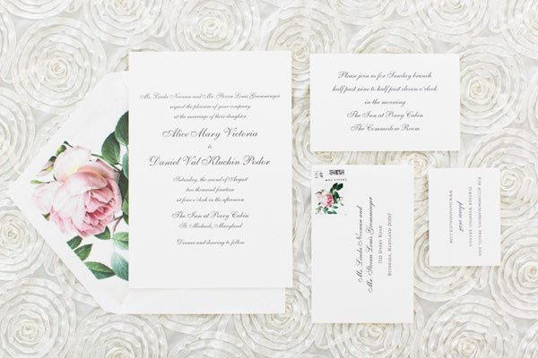 southern weddings invitation