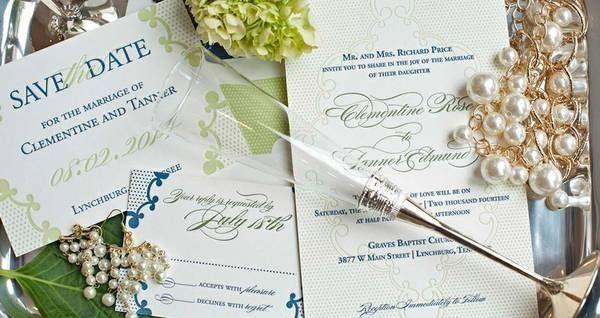 Tmx 1461859625353 Blue Branded Invite Photo McLean, District Of Columbia wedding invitation