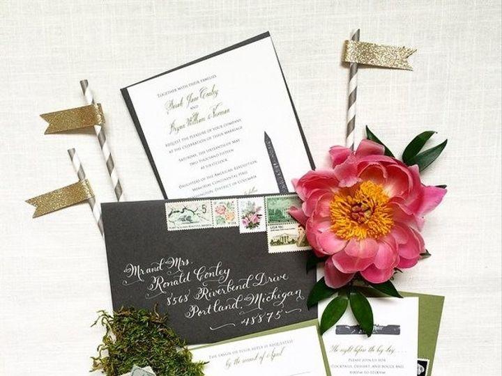 Tmx 1461859640378 Bonnie Sen Creative  Elegantly Chic McLean, District Of Columbia wedding invitation