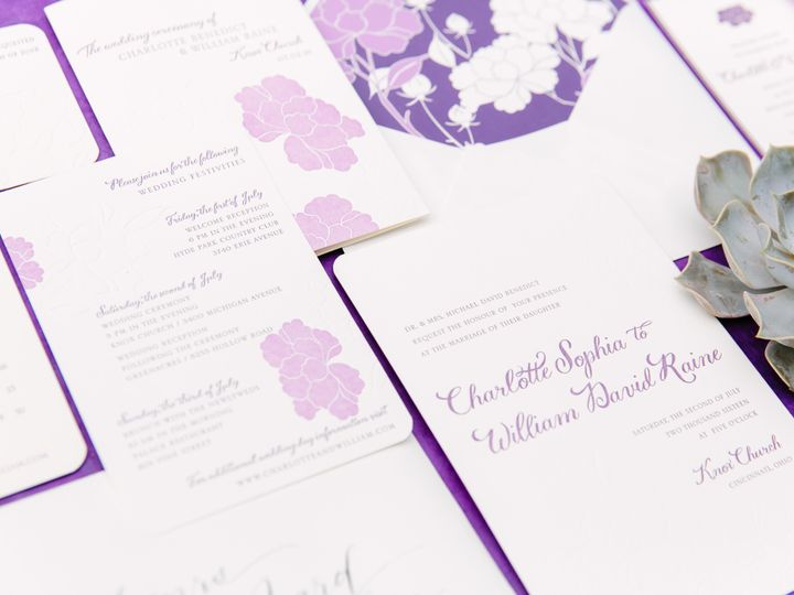 Tmx 1461859942276 Kelsey Thompson Purple McLean, District Of Columbia wedding invitation