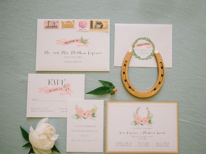Tmx 1461860087572 Sara And Mike Invite McLean, District Of Columbia wedding invitation