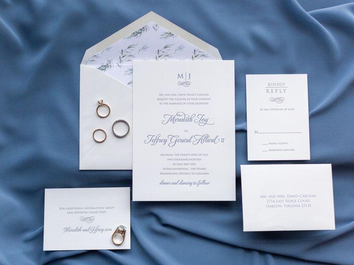 Tmx 1536416555 B5312af3167679a1 1536416553 Cf3709e26c30e243 1536416547592 5 Allard Wedding 1 McLean, District Of Columbia wedding invitation