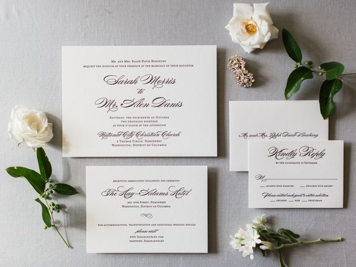 Tmx Alen Sarah Wedding 176 1 51 1272 McLean, District Of Columbia wedding invitation