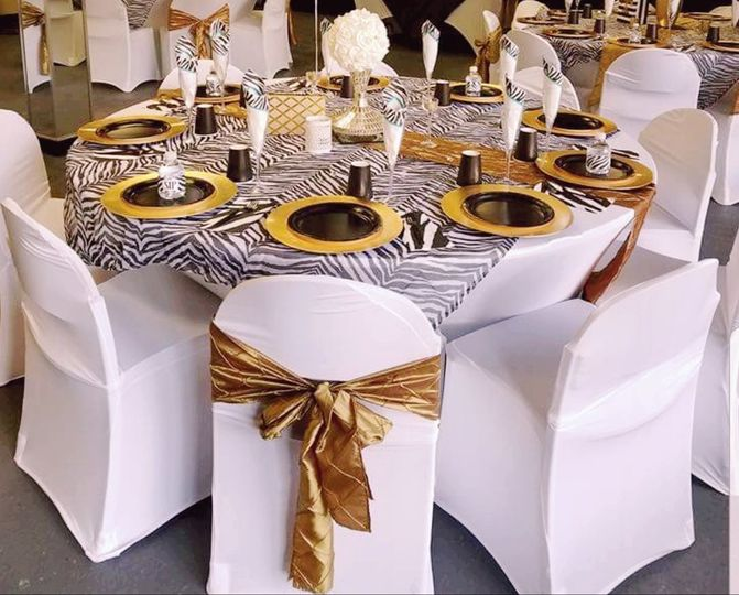 Gold and black baby shower