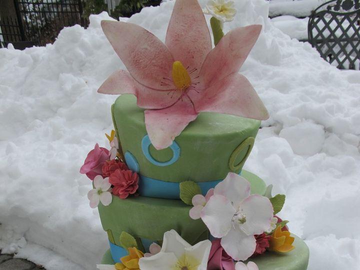 Tmx 1357560030174 IMG2037 Atlantic Highlands wedding cake
