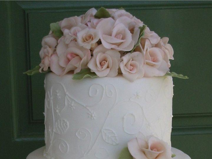 Tmx 1357560082625 Pinkflower Atlantic Highlands wedding cake
