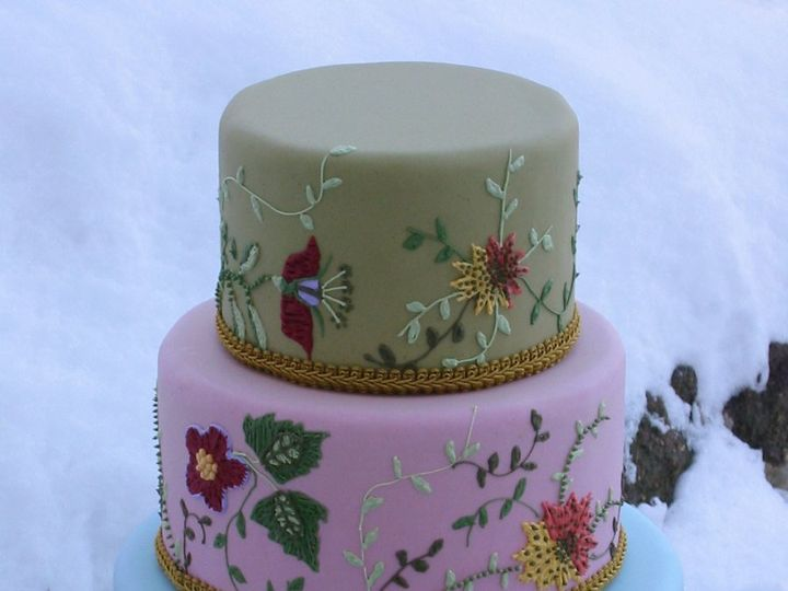 Tmx 1357560085378 Wildflower002 Atlantic Highlands wedding cake