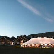 Sperry Tents Colorado at twilight