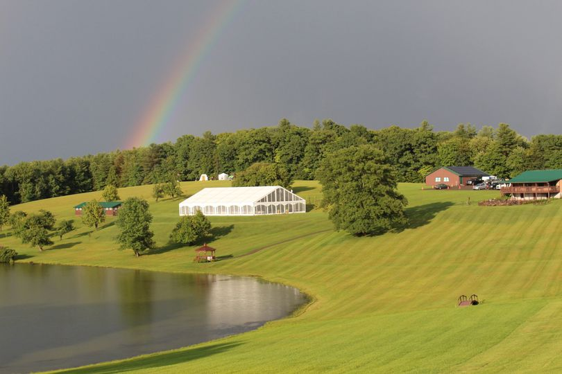 Rainbow over the venue grounds