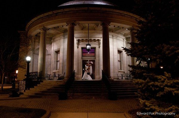Evening wedding photo at The Rotunda Waukesha, WI