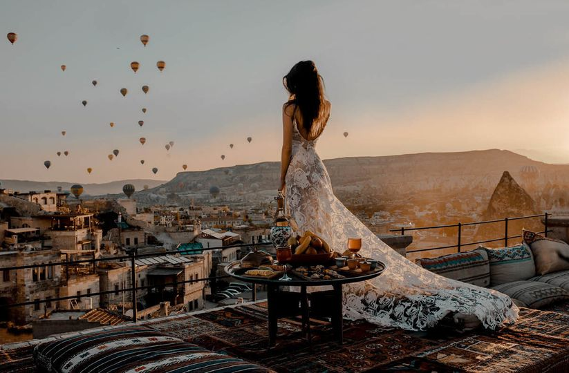 Outdoor bridal photo