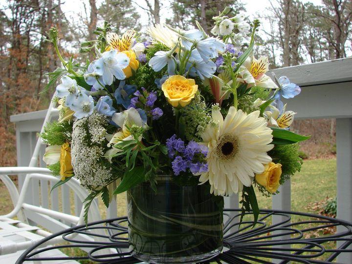 Tmx 1360272771290 Blueyellowcreamcylindervase North Falmouth wedding florist
