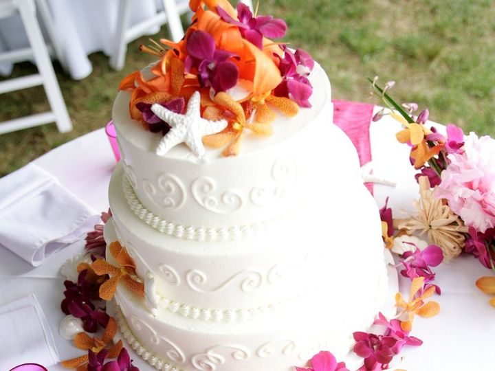 Tmx 1360273355778 TropicalCakeDecorations North Falmouth wedding florist