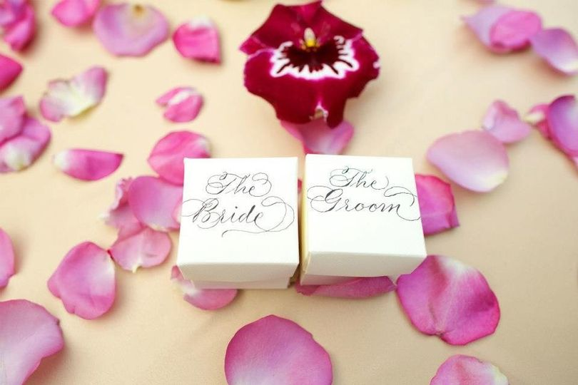 Bride and Groom Placecards/party favors