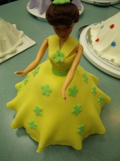 Doll Cake. Covered with fondant.