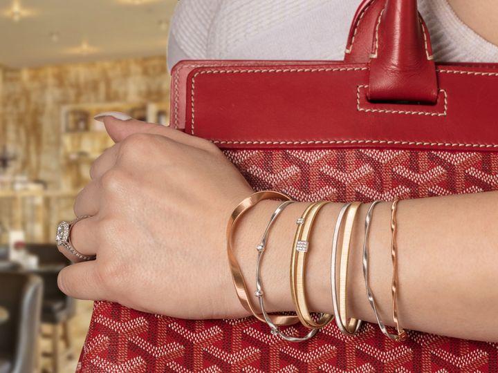 Tmx 1514909726258 Bicego Stack 4 In Sq West Bloomfield wedding jewelry
