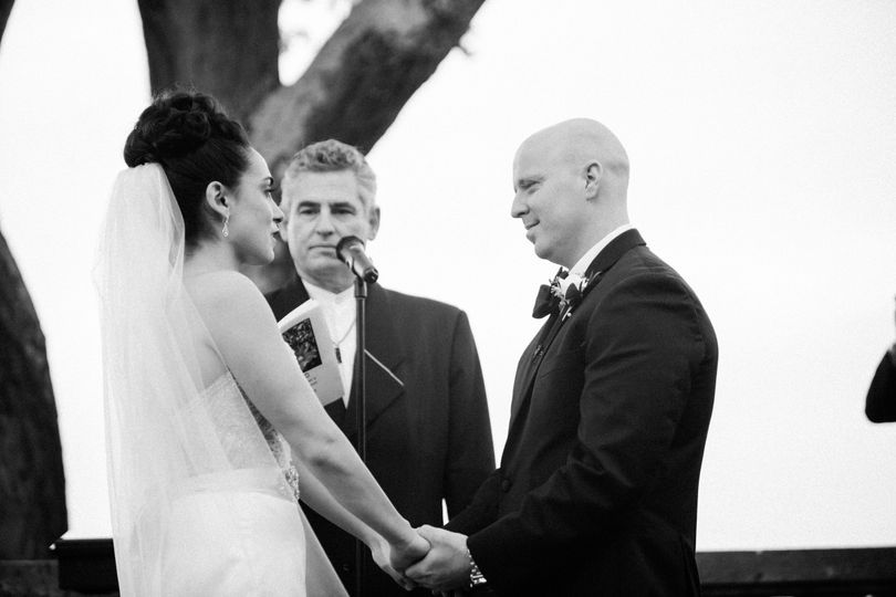One of the great moments in a wedding is when the couple are truly present to the words and occasion...