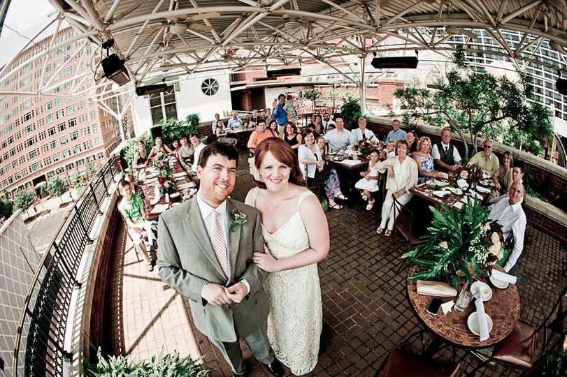 Couple at reception area