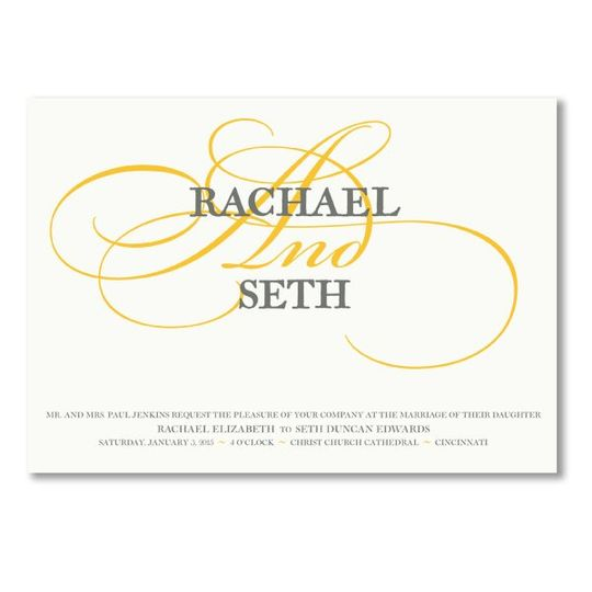 Vera Wang Swash Oyster White Wedding Invitations 79-79367