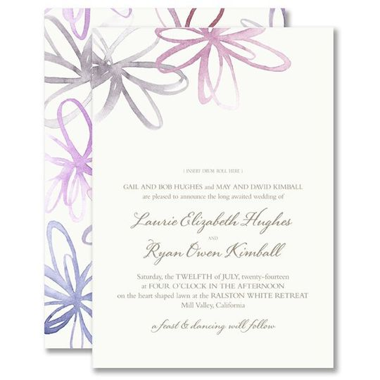 Vera Wang Watercolor Blossoms Wedding Invitations 85-86073