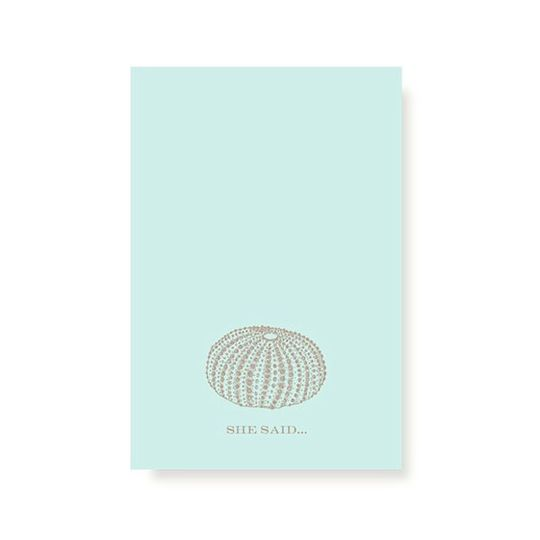 Vera Wang Seafoam Blue Save the Date Folded Cards